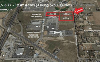 +/- 3.77 – 12.49 Acres (Asking $750,000/lot) MENIFEE, CA